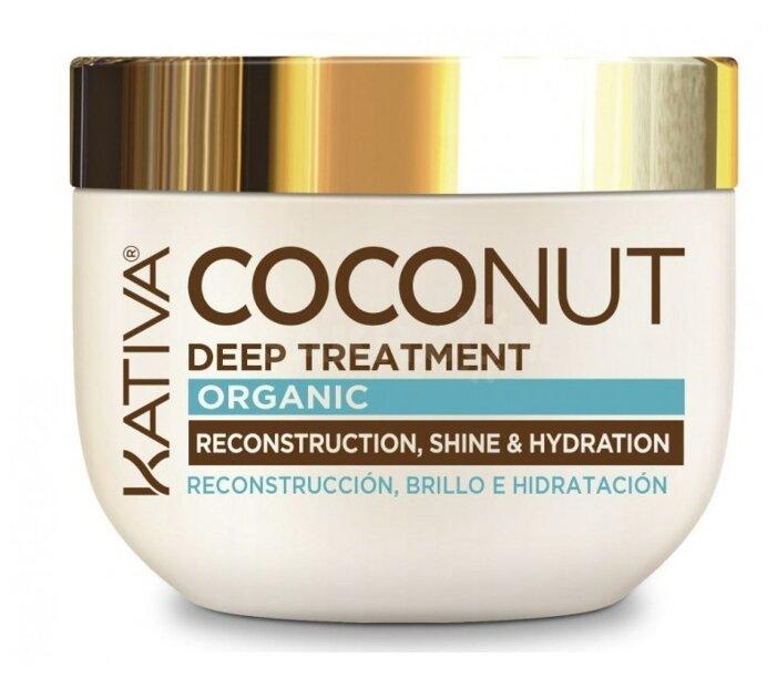 Kativa Coconut Восстанавливающая маска с органическим кокосовым маслом для поврежденных волос