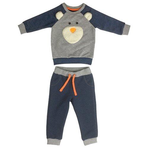 Комплект одежды Sonia Kids размер 98, серый/синий, Комплекты и форма  - купить со скидкой