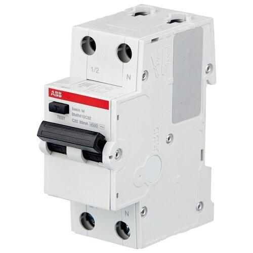 Дифференциальный автомат ABB BMR415 2П 30 мА C 32 А автомат abb bms413c06