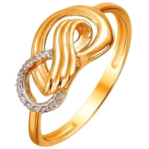 Эстет Кольцо с 12 фианитами из красного золота 01К1111977Р, размер 19