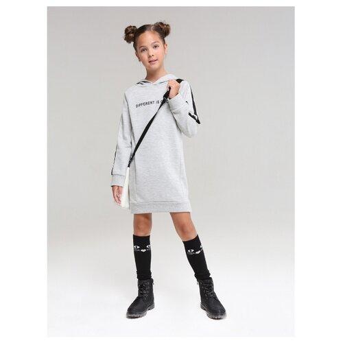 Купить Платье Fox размер 128, серый, Платья и сарафаны