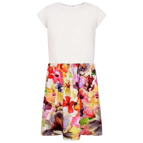 Платье Molo размер 92-98, белый/цветочный принт шорты molo размер 98 черный