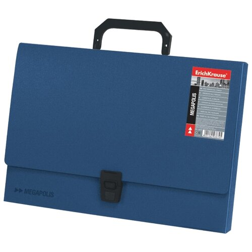 Купить ErichKrause Портфель пластиковый MEGAPOLIS FC синий, Файлы и папки