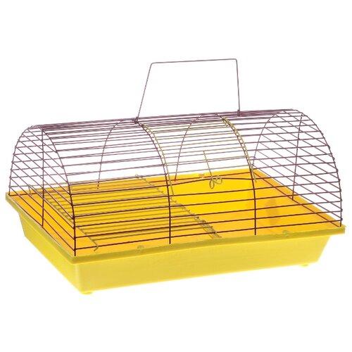 Клетка для грызунов Зоо Марк 110Ж 36х23х17.5 см желтый/фиолетовый