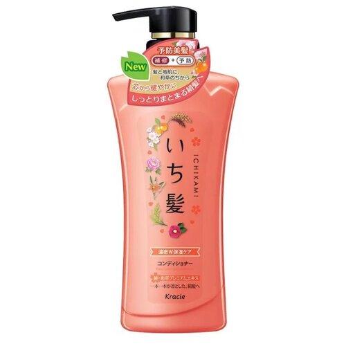Kracie бальзам-ополаскиватель Ichikami интенсивно увлажняющий для поврежденных волос с маслом абрикоса, 480 г
