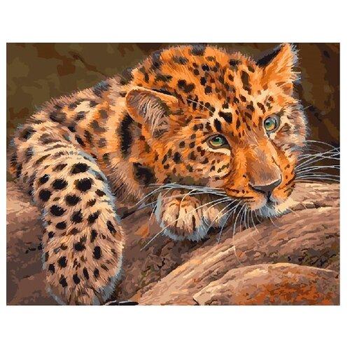 Купить ВанГогВоМне Картина по номерам Африканский леопард , 40х50 см (ZX 21690), Картины по номерам и контурам