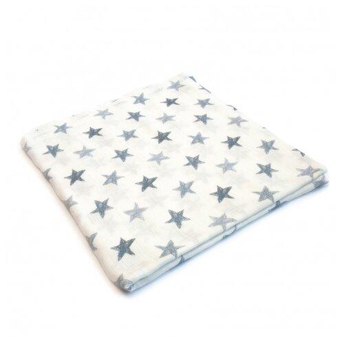 Купить Многоразовые пеленки MamSi бамбуковый муслин 120х120 Карандашные звезды, Пеленки, клеенки