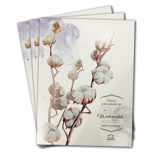 Купить Папка для акварели Малевичъ Watercolor , А3, 15 листов, 300 г/м, Альбомы для рисования