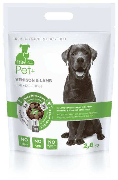 Корм для собак The Pet+ дичь, ягненок 2.8 кг