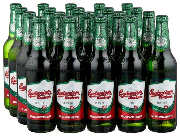 Пиво светлое безалкогольное Budweiser Budvar B:Free 0,5 л 20 шт