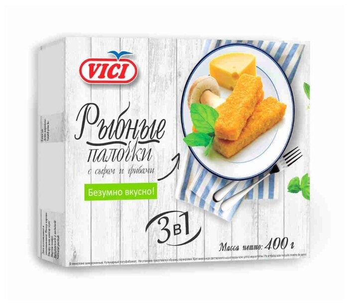 Vici Палочки рыбные с сыром и грибами коробка 400 г