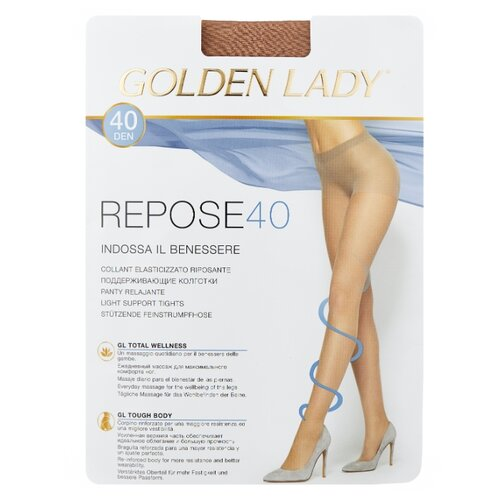 Колготки Golden Lady Repose 40 den, размер 4-L, natural (бежевый) колготки golden lady repose 40 den размер 5 xl natural бежевый
