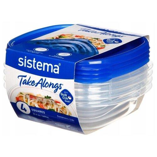 Sistema Набор контейнеров TakeAlongs 54105 0.669 л прозрачный/синий