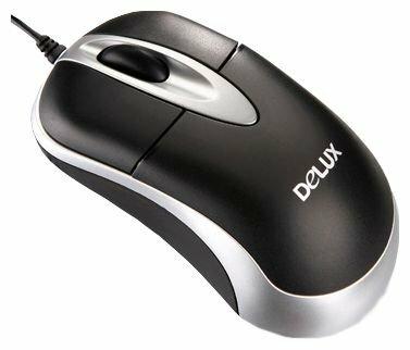 Мышь Delux DLM-312 Black-Silver PS/2