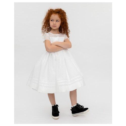 Купить Платье Gulliver размер 98, белое, Платья и сарафаны