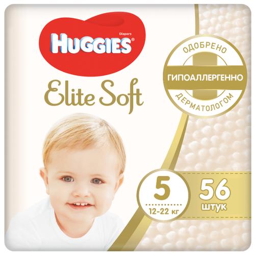 Купить Huggies подгузники Elite Soft 5 (12-22 кг), 56 шт., Подгузники