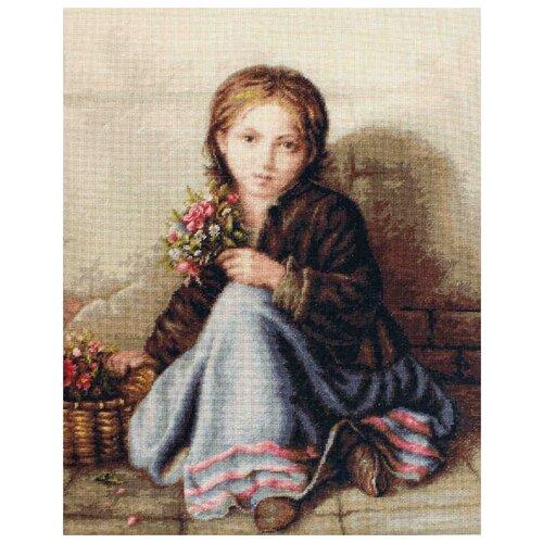 Купить Luca-S Набор для вышивания Портрет девочки, 20 х 29 см, G513, Наборы для вышивания