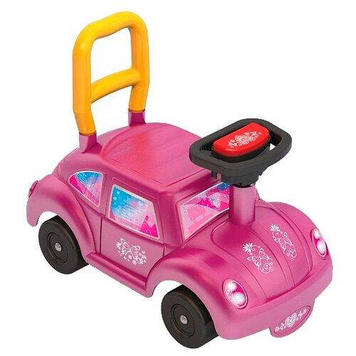 Каталка-толокар Нордпласт Авто GO! (431012/431012-1) со звуковыми эффектами розовый