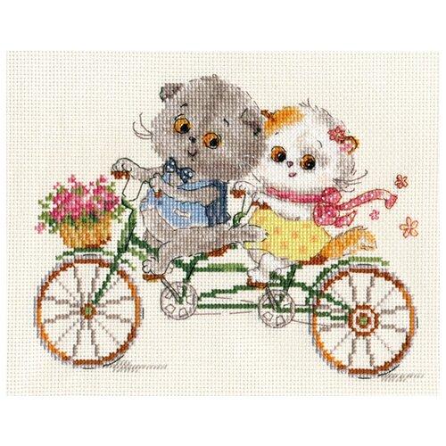 Алиса Набор для вышивания Алиса Басик и Ли-Ли. Счастливый день, №107 (20х15 см)