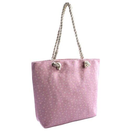 Сумка тоут Kingth Goldn C031, текстиль, розовый сумка тоут kingth goldn c187 3 4 7 8 9 текстиль