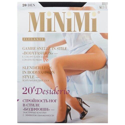 Колготки MiNiMi Desiderio (Nudo) 20 den, размер 4-L, nero (черный) колготки minimi desiderio nudo 20 den размер 4 l daino бежевый