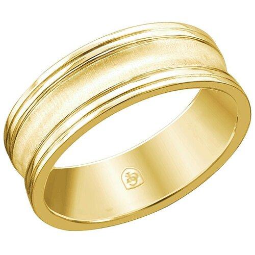 Эстет Кольцо из жёлтого золота 01О030450, размер 17 фото