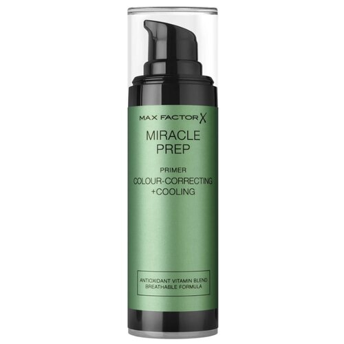 Max Factor Праймер Miracle Prep Colour-correcting + Cooling 30 мл зеленый основа под макияж max factor miracle prep colour correcting cooling тон green 30 мл