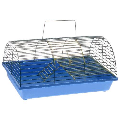 Клетка для грызунов Зоо Марк 110Ж 36х23х17.5 см синий/зеленый