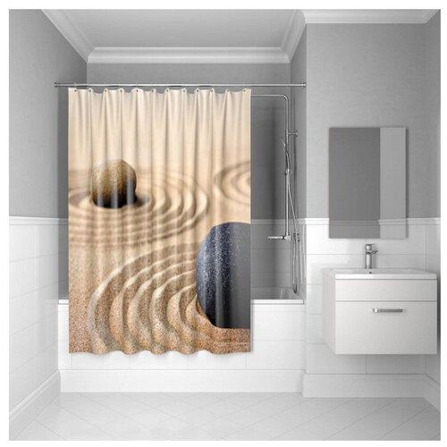 Штора для ванной IDDIS 640P18Ri11 180x200 Sandy