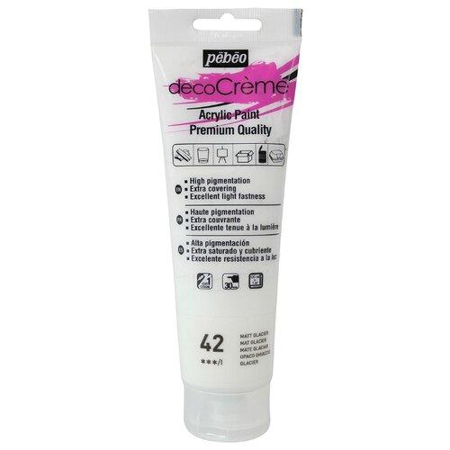 Купить Краска акриловая кремовая матовая PEBEO decoCreme , 120 мл, цвет: 089042 ледяной, Краски