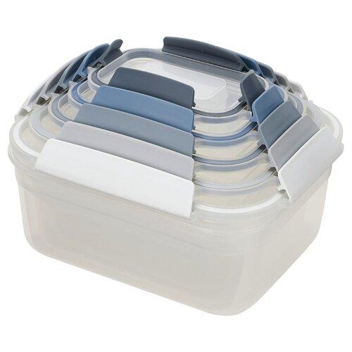 Joseph Joseph Набор контейнеров для хранения продуктов Nest Lock 81081/81105 белый/серый/синий joseph joseph nest зеленый