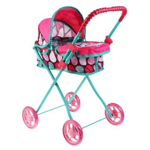 Купить Коляска-люлька Карапуз 63CA-20-MLP голубой/розовый, Коляски для кукол
