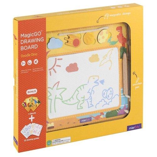 Купить Доска для рисования детская Mieredu Динозавры (ME221R) желтый, Доски и мольберты