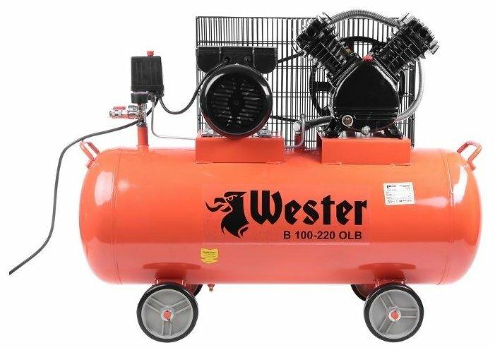 Компрессор масляный Wester B 100-220 OLB, 100 л, 2.2 кВт