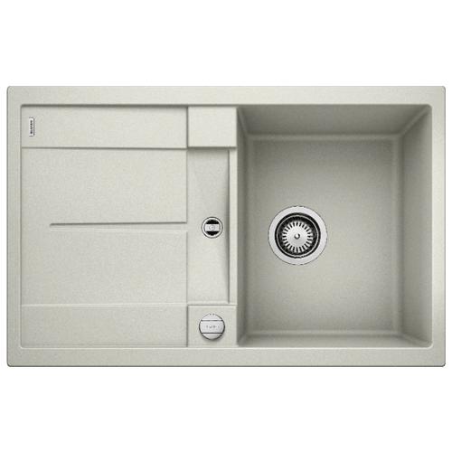 Врезная кухонная мойка 78 см Blanco Metra 45S жемчужный врезная кухонная мойка 78 см blanco metra 45s 525311 бетон