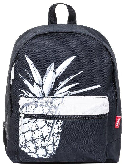 Hatber Рюкзак Casual Pineapple NRk_38099, черный