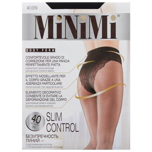 Колготки MiNiMi Slim Control 40 den, размер 4-L, nero (черный) колготки minimi vittoria 40 den размер 4 l nero черный