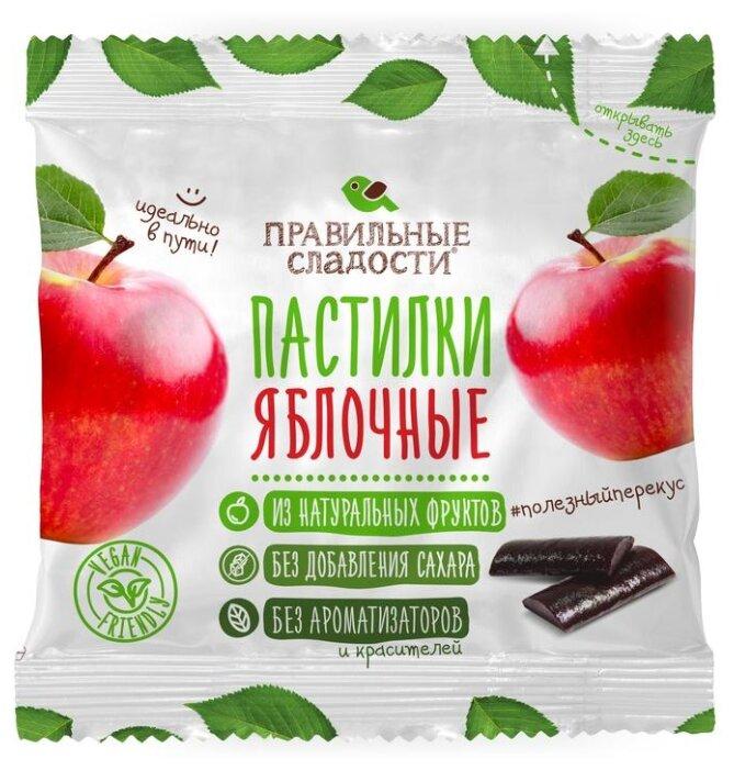 Мармелад Правильные сладости Пастилки яблочные 90 г