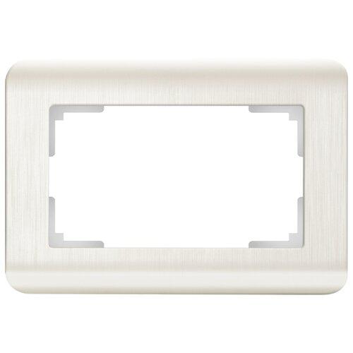 Рамка 1п Werkel WL12-Frame-01-DBL, перламутровый рамка 1п werkel wl01 frame 01 dbl белый