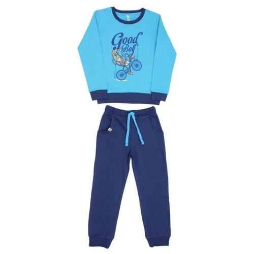 Купить Спортивный костюм MisterBanana размер 98-104, бирюзовый, Спортивные костюмы