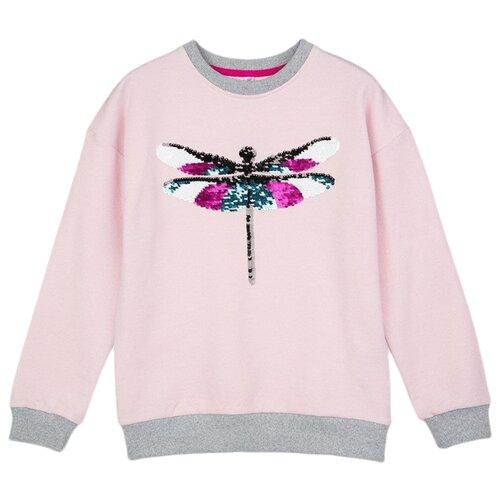 Свитшот playToday размер 116, розовый шорты playtoday размер 116