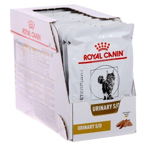 Фото - Влажный корм для кошек Royal Canin Urinary S/O для лечения МКБ 12шт. х 85 г (паштет) сухой корм для кошек royal canin urinary s o для лечения мкб 400 г