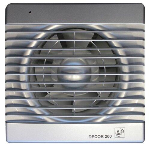 Вытяжной вентилятор Soler & Palau DECOR 200 C, silver 20 Вт цена 2017