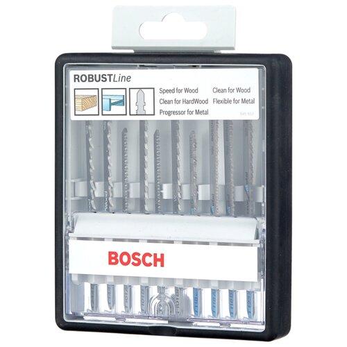 Набор пилок для лобзика BOSCH Robust Line Wood and Metal 10 шт. набор пилок для лобзика bosch robust line 2607010531