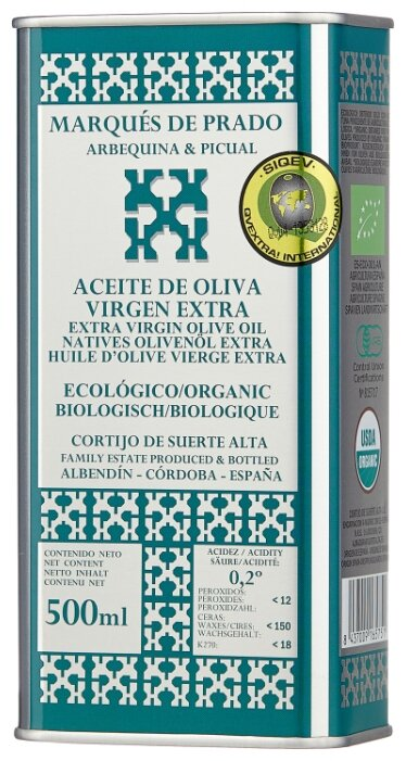 Marques de Prado Масло оливковое Арбекина Пикуаль Extra Virgin