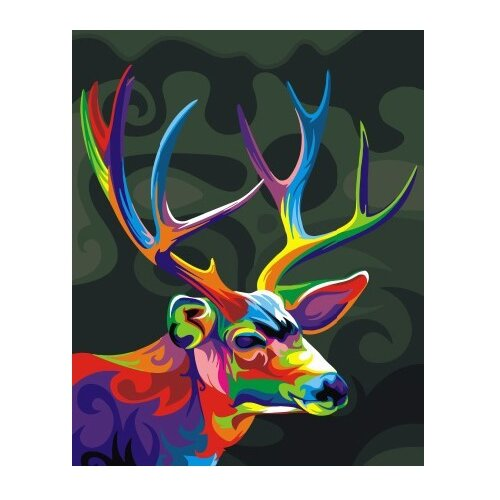 Купить ВанГогВоМне Картина по номерам Радужный олень , 40х50 см (ZX 21490), Картины по номерам и контурам