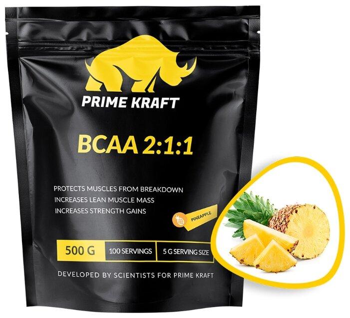 Аминокислоты PRIME KRAFT BCAA 2:1:1 (чистый), 500 гр.
