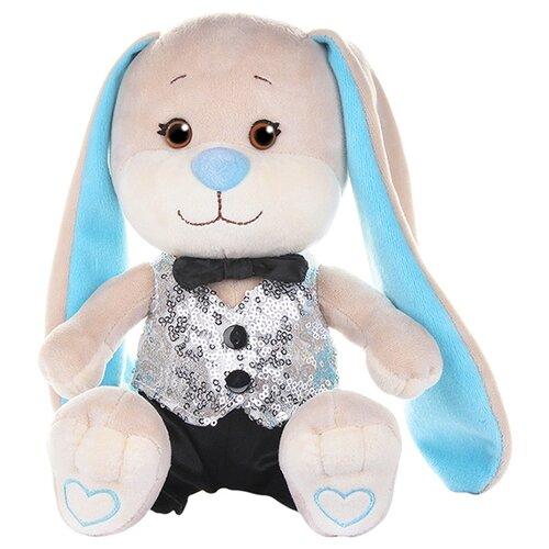 Купить Мягкая игрушка Jack & Lin Зайчик Жак в серебряной жилетке и черных брючках 20 см, Мягкие игрушки