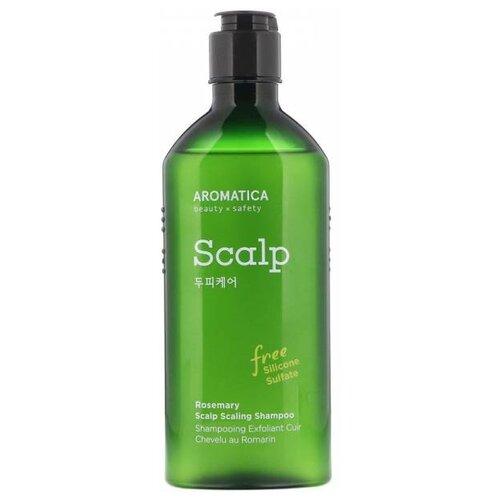 Aromatica шампунь Scalp Scaling для укрепления и эластичности волос с розмарином, 250 мл