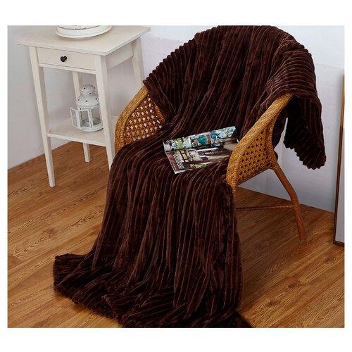 Плед Cleo Orrizonte 150x200 см, темно-коричневый сорочка ночная cleo cleo mp002xw16zuw